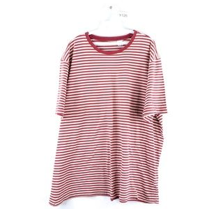 Vintage 90s Streetwear Blank Striped T Shirt Red